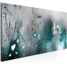 Discount dandelion canvas art - Home Decor Canvas Painting Wall Art Abstract Home Dandelion Dew Beads Picture