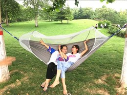 Cloth Nets Australia - Automatic mosquito net hammock outdoor single double parachute cloth hammock anti-mosquito indoor and outdoor swing chair free shipping