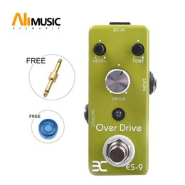 electric guitar overdrive pedal UK - Eno Music EX Micro OD-9 ES-9 Classic Over Drive Guitar Effect Pedal Metal Shell Tc17 Free connector
