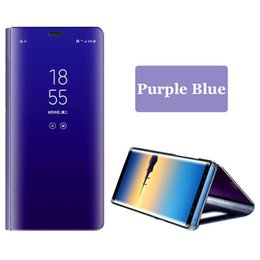 $enCountryForm.capitalKeyWord NZ - Original Smart Mirror Flip Phone Case For Samsung Galaxy S10 Plus S9 S8 S7 Note 9 8 Official Clear View Cover For Huawei P30 PRO
