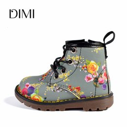 girl flower boots shoes Australia - 2018 Autumn 6 Colors Girls Boots Children Rubber Boots Toddler Boots Leather Flower Waterproof Shoes For Kids Size 21-30 T191015