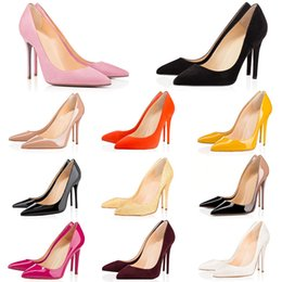 $enCountryForm.capitalKeyWord Australia - Cheap Luxury Ladies Office Silk Shoes Red Bottom Autumn High Heels Women's Classic Thin Heels Pointed Toe Pumps Fashion Party Wedding Shoes