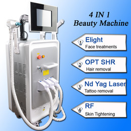 laser pigment removal NZ - E-Light Ipl Shr laser hair removal machine Elight Skin Care Rejuvenation acne pigment removal nd yag laser rf machine with 3 heads