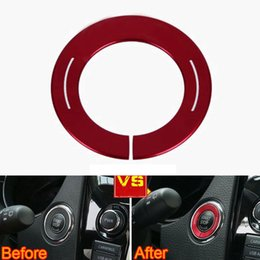 $enCountryForm.capitalKeyWord Australia - BBQ@FUKA Decoration Car Engine Start Stop Switch Button Ignition Ring Cover Styling Sticker Fit For Qashqai Nismo 2015