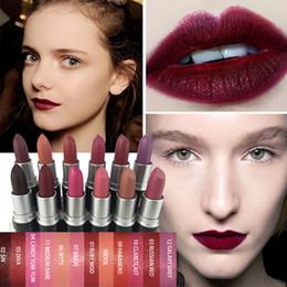 Dark Blue Lipstick Australia - Labial Mate Waterproof Matt Lipstick Smooth Lips Stick Long Lasting Lip Lipstick Cosmetic Pintalabios Permanente Mate #YL10