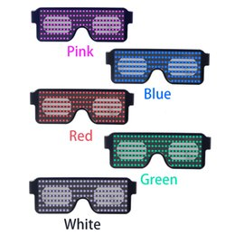 Glow Party Decorations Australia - Neon 8 Modes LED Glasses Glowing Light Novelty Light Festival Party Sunglasses LED Light Party Decoration