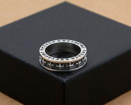 $enCountryForm.capitalKeyWord Australia - New 925 Sterling Silver Fine Jewelry Vintage American Europe Style Antique Silver Crosses Hand-made Designer Men's Rings Gift K3530