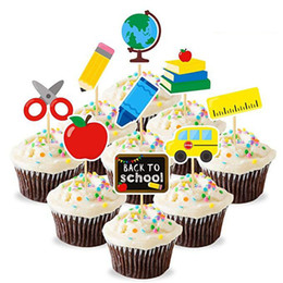 classroom decor NZ - 27pcs Back to School Cupcake Topper First Day of School Welcome Party Decoration Activities Gift Classroom Decor Supplies