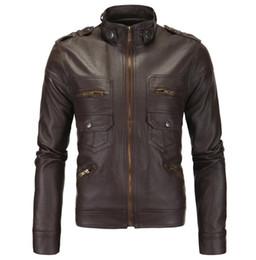 0de9266afed chaqueta de cuero para hombre chaqueta de cuero delgado Inglaterra  motocicleta chaquetas de los hombres ropa personalizada soporte de la calle  de la moda ...