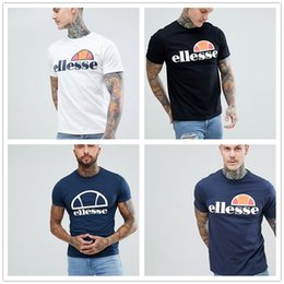 Wholesale mens designer t shirts Brand Ellesse Fashion short sleeves Casual shirts Tops summer Hip hop leisure Funny Tees shirt Print brand Logos