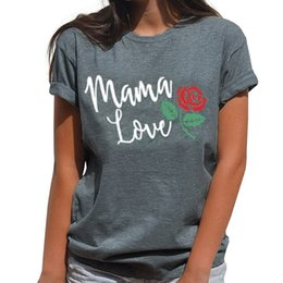 Wholesale Mama Love T shirt Harajuku Women T Shirt Summer Short Sleeve High Quality Mother T Shirt Mom Top Tees Mother s Day Gift