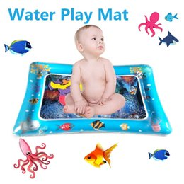 Used Toys Wholesale Australia - 2019 Creative Dual Use Toy Baby Inflatable Patted Pad Baby Prostrate Water Cushion Pat Pad Water Cushion Pat toy