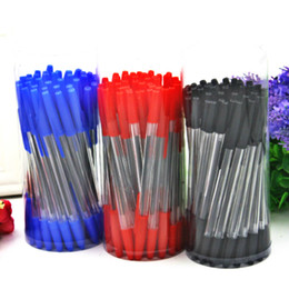 cheap wholesale pens NZ - 1PC Simple 0.7mm Ballpoint Pen Office Meeting Ball Point Pen Supplies Pens for Writing Cheap Wholesales