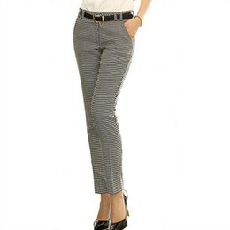 67362ad876beaa 2019 Spring Summer Autumn Women Slim Casual Pants Work Wear Career Houndstooth  Pants Straight Pencil Pants Women Trousers Female Y190502