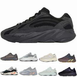 White red man sneakers online shopping - 2019 Static V2 Vanta Wave Runner Running Shoes Men Women Salt Mauve Inertia V2 Kanye West Designer Shoes Sport Sneakers With Box