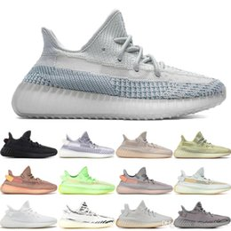 glow dark running 2019 - Stock X 2019 Black Reflective Kanye West Lundmark Antlia Synth Static Gid Glow Men Women Running Shoes could white Sneak