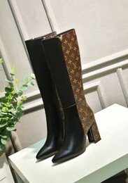 fashion knee high long boots NZ - Lady Fashion Knee High Long Motorcycle Boots Sexy Flats Round Toe Martin Boots Zipper Up 110601