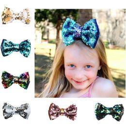 $enCountryForm.capitalKeyWord Australia - New Cute Baby Sequin Bow Hair Clip Girls Pretty Barrettes Hair Accessories Kids Gifts Children's Bow Hairpin Headwear