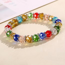 $enCountryForm.capitalKeyWord NZ - Fashion Candy Colors Crystal Bead Bracelet Bangle Cute Bracelets Girls Red Blue White Bracelet Woman Wedding Party Jewelry