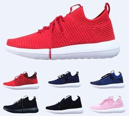 Discount knit shoes - 2019 NEW Best Quality Running Shoes Men Women Outdoor Sports Knitted breathable running shoes Fashion Sneakers 36-45