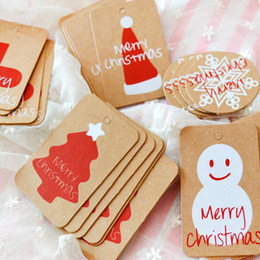 $enCountryForm.capitalKeyWord Australia - Happy Merry Christmas Kraft Paper Tag Ornaments Decorations for Home Party Faovrs Xmas Trees Decoration Stocking Deco