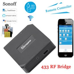 Wholesale Sonoff RF Bridge RF Remote Converter to WiFi Remote Control Smart Home Automation Module Wifi Switch Diy Controller