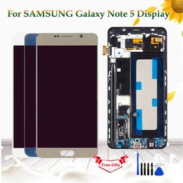 $enCountryForm.capitalKeyWord Australia - For Samsung Galaxy Note 5 N920 N920F N920A LCD Display Touch Screen Digitizer Assembly For Samsung Note 5 Display With Frame