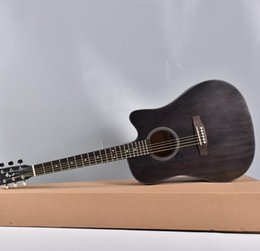 China free shipping 41 inch spruce Nanyang wood corner ballad acoustic guitar six-string steel wire string beginner advanced acoustic guitar suppliers