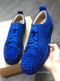 spikes men Australia - Designer fashion Red Bottoms shoes Studded Spikes Flat sneakers For Men Women glitter Party Lovers Genuine Leather casual rivet Sneaker 67
