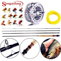 flying lures NZ - Sougayialng 8.86FT \35; 5 6 Fly Fishing Rod Set 2.7M Fly Rod and Fly Reel Combo with Fishing Lure Line Box Set Fishing Rod Tackle