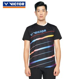 $enCountryForm.capitalKeyWord Australia - 2019 Victor Men Badminton T Shirts Quick Dry Sportswear For Fitness Short Sleeve Clothes