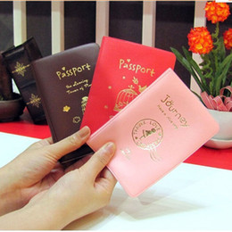wholesale passport case cover Australia - KuZHEN 1Pc Simple Travel ID Card Holder Skin Faux Leather Passport Cover Case For Protecting card
