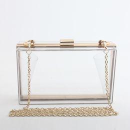 $enCountryForm.capitalKeyWord NZ - Casual Acrylic Transparent clutch Bag Box Women Chain Shoulder Bag Party Wedding Evening Lady Luxury Handbag Bolsas Feminina