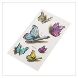 hand butterfly art 2019 - 1 Sheet 3D Colorful Butterfly Body Art Temporary Tattoos Women Sexy Waterproof Durable Non-toxic Transfer Sticker discou