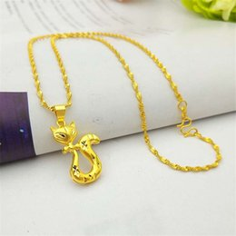Fox Pendant Gold Australia - Japanese and Korean fashion women's clavicle necklace Cute fox necklace pendant gold-plated jewelry