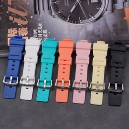 Discount ladies watches rubber straps - Silicone strap watch accessories for baby-G series BA-110 111 112   BGA-130 ladies casual waterproof sports rubber strap