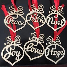 $enCountryForm.capitalKeyWord Australia - Christmas letter wood Heart Bubble pattern Ornament Christmas Tree Decorations Home Festival Ornaments Hanging Gift, 6 pc per bag DHL 5w2
