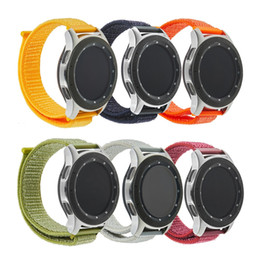 samsung clock 2019 - 2018 Watchband Nylon weave Band Wrist Strap 22mm For Samsung Galaxy watch 46mm gear S3  Gear2 Montre Strap Reloj Relogio