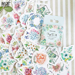 $enCountryForm.capitalKeyWord Australia - LOLEDE New 45pcs set Flower Mean Notebook Diary Drawing Painting Graffiti Soft Cover Paper Memo Pad Office School Supplies Gift