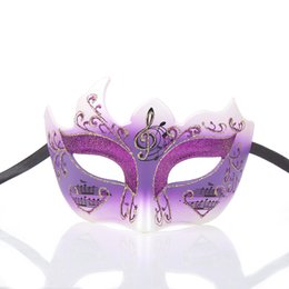 $enCountryForm.capitalKeyWord Australia - Womens Multi-angle Music Note Painting Masquerade Mask Halloween Mardi Gras Cosplay Cost One Size Fit Most 28H