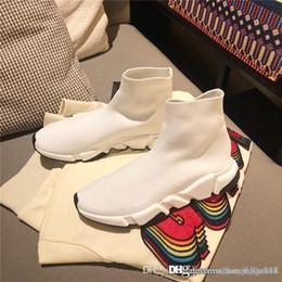$enCountryForm.capitalKeyWord Australia - New designer men and women speed trainer comfortable socks shoes black white red yellow bag khaki flat fashion men casual High boots