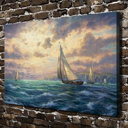 $enCountryForm.capitalKeyWord Australia - Thomas Kinkade,New Horizons,1 Pieces Canvas Prints Wall Art Oil Painting Home Decor (Unframed Framed)
