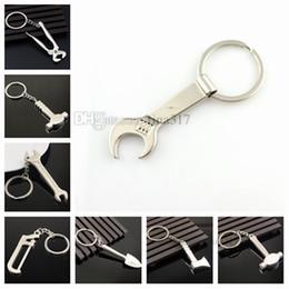 $enCountryForm.capitalKeyWord Australia - Creative metal Tool key chain metal key chain hammer shovel wrench pendant bag pendant holiday gift T2C5037