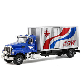 Discount toy models cars trucks - KDW 1:50 Alloy car model Diecast cargo truck Construction vehicle Collection decoration kids toys Gift for children