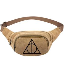 $enCountryForm.capitalKeyWord UK - Harry Potter waistpacks HP print waist bag JK Rowling cartoon belt side packs Khaki color canvas bum pocket Outdoor sport waistbag