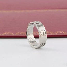 Zirconia beZel online shopping - New Luxury Designer Jewelry Women Rings Mens Jewelry Engagement Wedding Rings Love Diamond Titanium Steel Ring