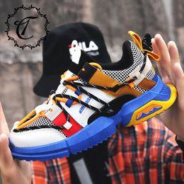 $enCountryForm.capitalKeyWord Australia - CatriCa Hot Sale Designer High Quality Tennis Men Shoes Fashion Trainers Chunky Male Sneakers 2019 Black Blue Gray khaki L-1916