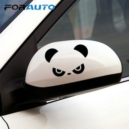 Funny car window accessories online shopping - FORAUTO Car Sticker Window Vinyl Rearview Mirror Window Cover Car Decor Panda Eyes Door Decal Funny Cute Accessories