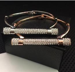 Gold Silver Bracelets For Womens Australia - luxury Bracelet bracelets for Women diamond studded bracelet silver rose gold Bangle womens Girls bangles fashion Jewelry NEW hot sale