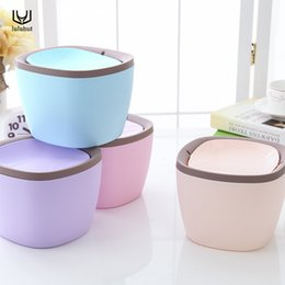 $enCountryForm.capitalKeyWord NZ - luluhut Mini desktop trash can waste garbage paper basket small table rubbish bin kitchen storage plastic waste bucket